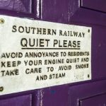 railway sign
