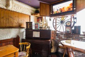 smoking area and piano