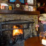 traditional fireplace in pub
