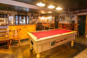 pool table in traditional pub